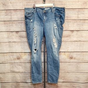 Torrid Distressed Ripped Boyfriend Jeans plus size